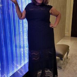 Formal Evening/Prom Black Lace Dress